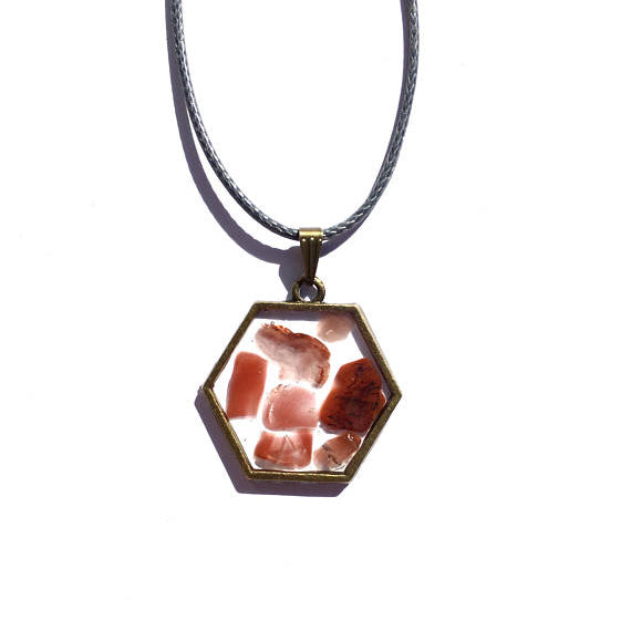 Carnelian Boho Hexagon