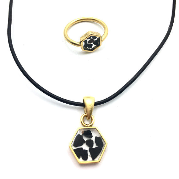 Empath Protection Hexagon Necklace