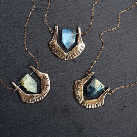 Helix Labradorite Necklace