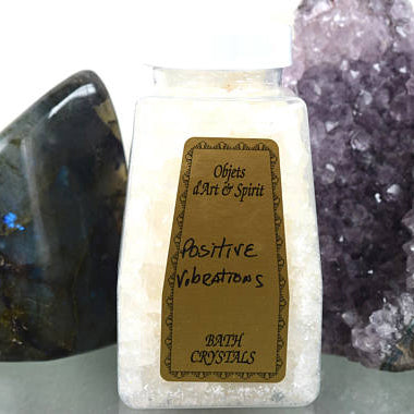 Positive Vibrations Bath Crystals