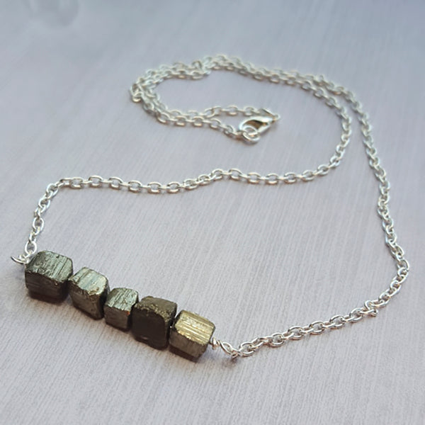 Pyrite Energy Deflector Necklace