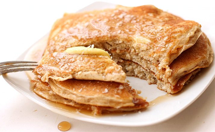 Protein Pancake Recipe Oatmeal banana and protein powder