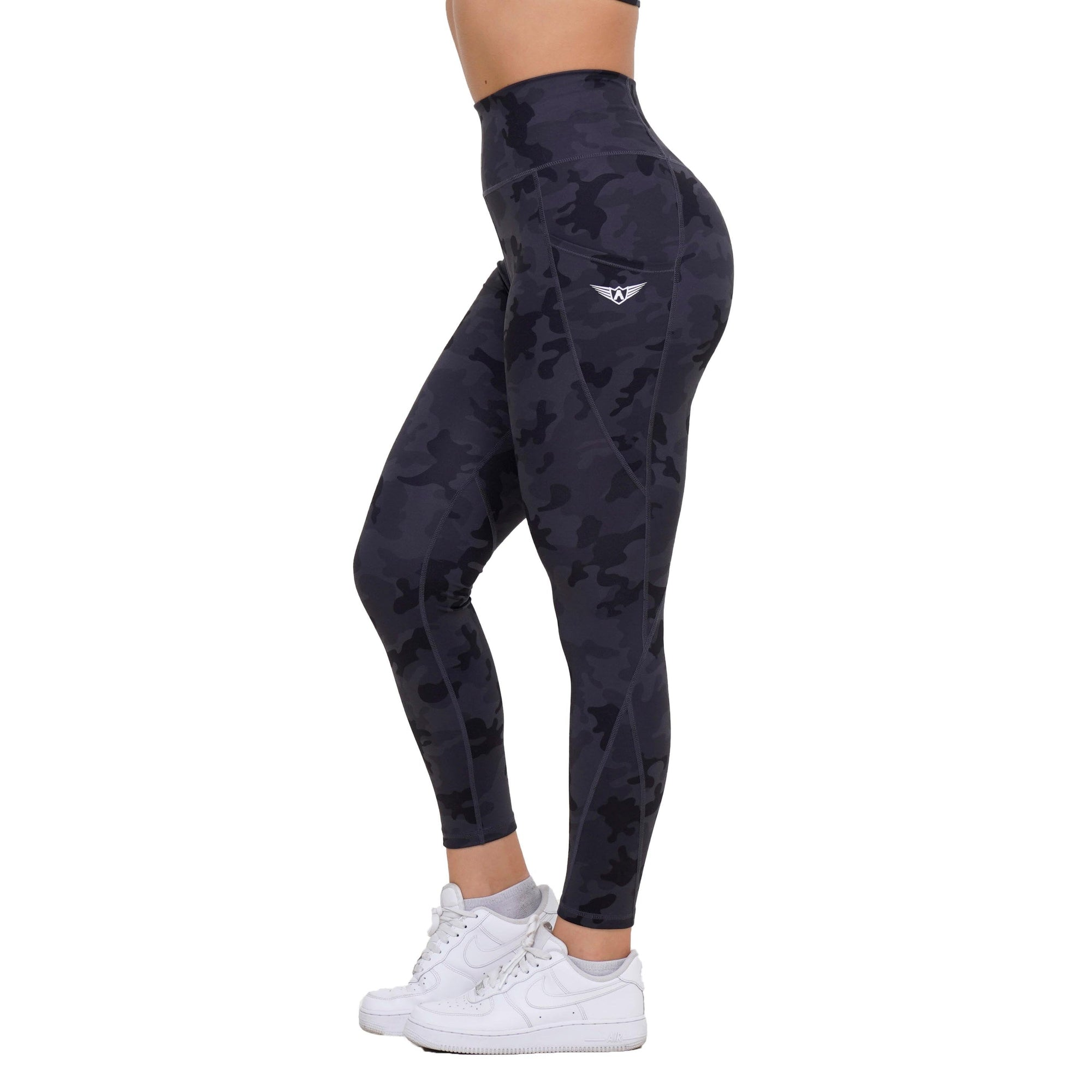DARK DIAMOND CAMOUFLAGE HIGH WAIST LEGGINGS