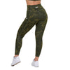GREEN DIAMOND CAMOUFLAGE HIGH WAIST LEGGINGS