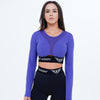 Aphrodite Long Sleeve Ccop Top Pink Purple