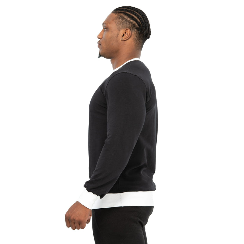 MEN COMMANDER LONG SLEEVE CREW NECK BLACK