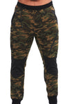 MILITARY CAMOUFLAGE GREEN JOGGER - mens gym pants