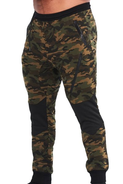 MILITARY CAMOUFLAGE GREEN JOGGER - mens active pants