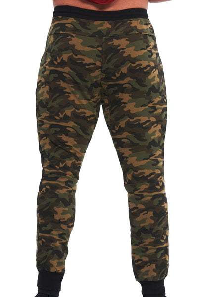 MILITARY CAMOUFLAGE GREEN JOGGER - mens activewear
