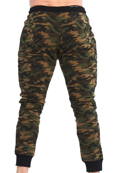 MILITARY CAMOUFLAGE GREEN JOGGER - mens gym clothes