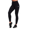 BLACK FEATHER HIGH WAIST COMPRESSION LEGGINGS