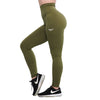 OLIVE GREEN FEATHER HIGH WAIST LEGGINGS - womens active leggings