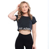 BLACK CROP TOP SHORT SLEEVE