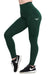 FOREST GREEN COMPRESSION LEGGINGS WITH POCKETS