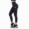 Feather Black High Waist Leggings With Pockets