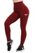 MAROON FEATHER HIGH WAIST COMPRESSION LEGGINGS
