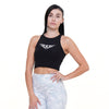 Selena Sleeveless Crop Top Black