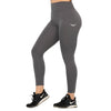 Feather Light Grey High Waist Leggings With Pockets
