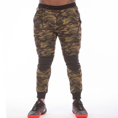 MILITARY CAMOUFLAGE GREEN JOGGER - men's workout clothes