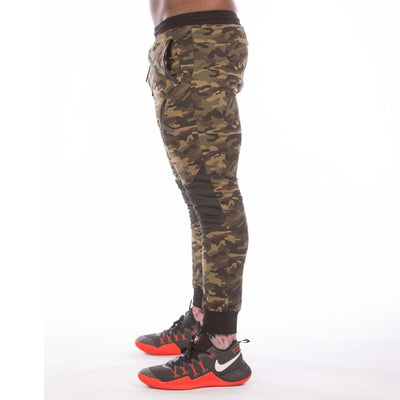 MILITARY CAMOUFLAGE GREEN JOGGER - men's gym wear