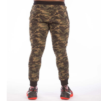 MILITARY CAMOUFLAGE GREEN JOGGER - men's workout pants