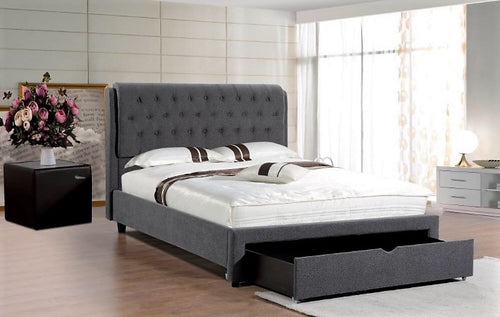 Maddison Upholstered bed with massive under-bed drawer