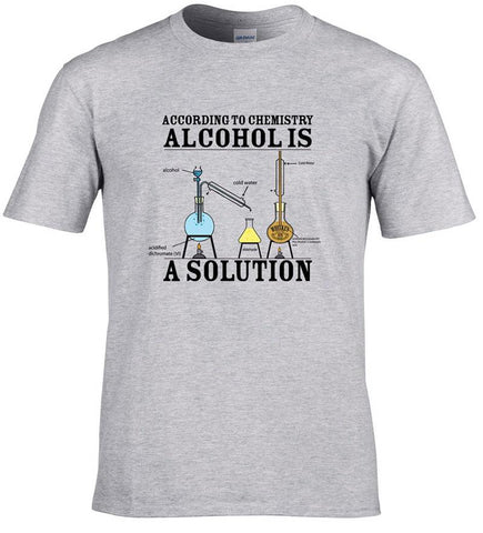 Alcohol is a Solution Science T-Shirt - Merch Vault