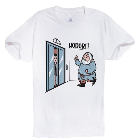 "Hodor ""Hold The Door"" Elevator T-Shirt - Merch Vault"