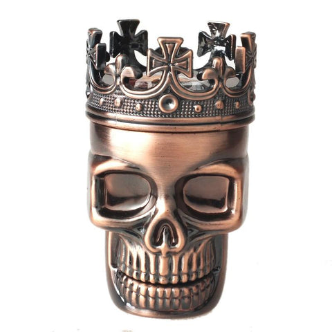King Skull Metal Herb Grinder - Merch Vault