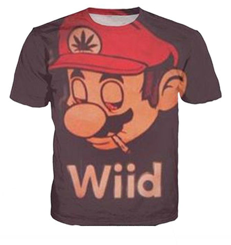 "Mario ""420 Wild"" T-shirt - Merch Vault"