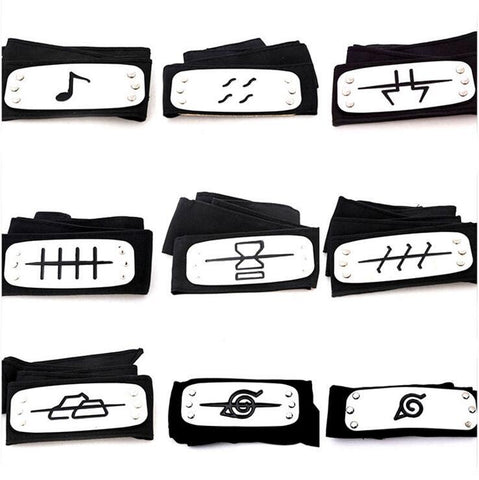 Naruto Ninja Cosplay Clan Headbands - Merch Vault