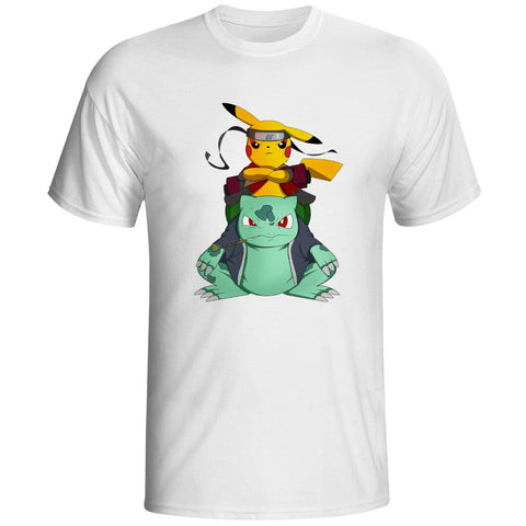Naruto X Pokemon - Sage Pikachu & Bulbasaur T-Shirt - Merch Vault