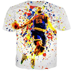 NBA Lebron James Color Explosion T-Shirt - Merch Vault