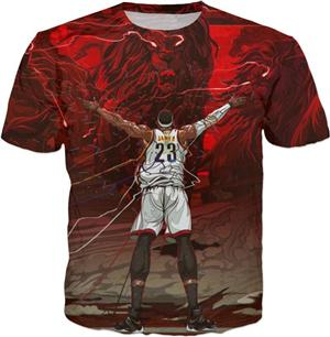 NBA Lebron James Lion T-Shirt - Merch Vault