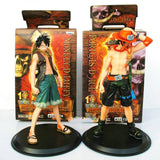 One Piece Monkey D Luffy x Portagas Figure Set - Merch Vault