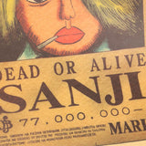 One Piece Sanji Wanted Poster - Merch Vault