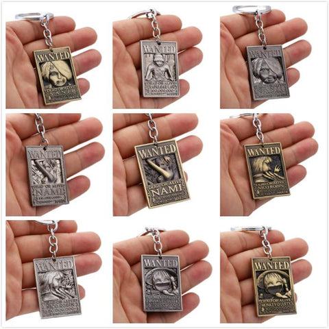 One Piece Wanted Keychains - Merch Vault