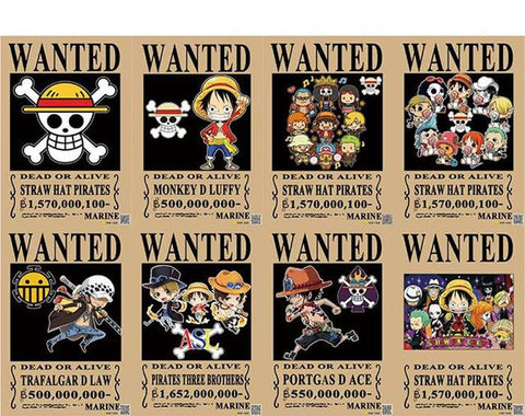 One piece wanted posters - Affiche one piece wanted ...