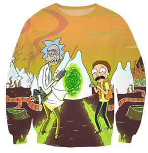 Rick and Morty 'Flaming Portal' Jumper,  - Merch-Vault.com