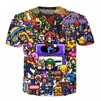 Super Mario World Character Mayhem T-shirt,  - Merch-Vault.com