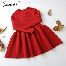 2018 Autumn winter knitted christmas dress girls dress O neck long Sleeve princess dress Kids dresses for girls costume
