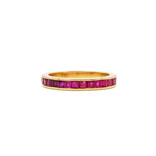 Lii Ji Gemstone Natural Ruby 14k Gold Ring CN size 13.5