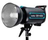Godox 2X QS-400 800W Studio Flash Strobe + Stand + Softbox + FT-16 Kit 230V