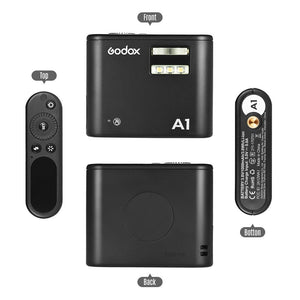 Godox A1 Flash built-in Godox 2.4G wireless X system and lithium battery