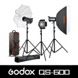 QS-1800watts Softbox / Umbrella / Case / Barndoor Kit
