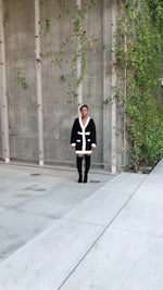 Black and White Cardigan Dress
