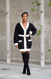 Black and White Cardigan Dress - High Honors