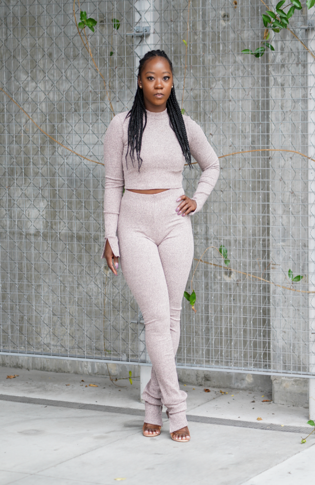 Toni - Ribbed pants set
