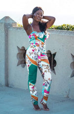 Kentucky Derby Jumpsuit - Pink/Multicolored