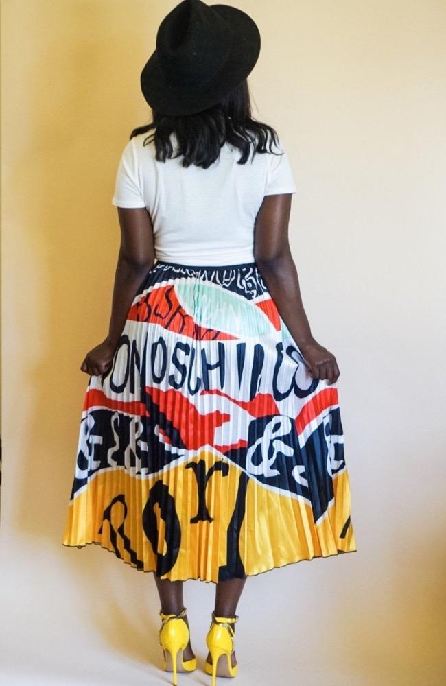 Bad n Bougie Jasmine Skirt - Yellow/Multicolored - High Honors